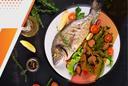 Зеленый салат к рыбе